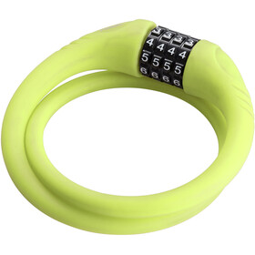 Red Cycling Products High Secure Silicon Cable Lock Bike Lock green